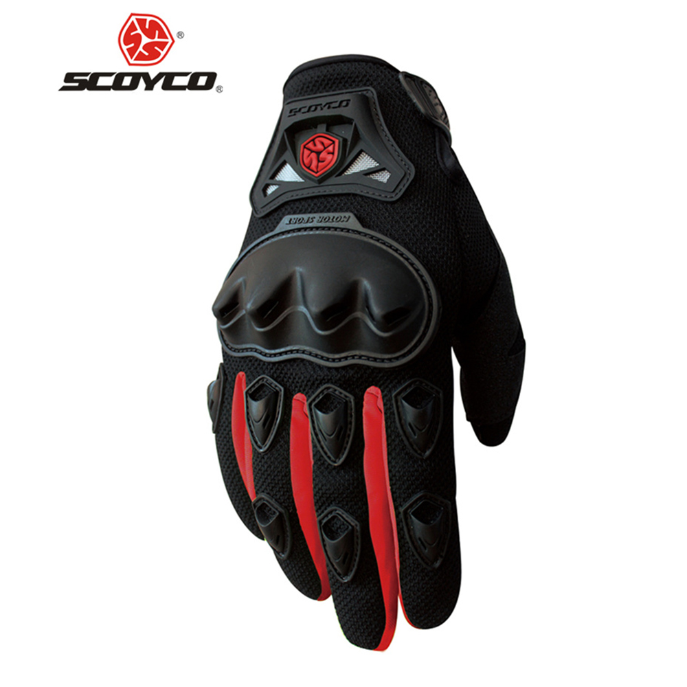 Triumph motorcycle leather gloves - Scoyco Professional Motorcycle Riding Gloves Protective Gear Motocross Off Road Racing Full Finger Gloves Outdoor