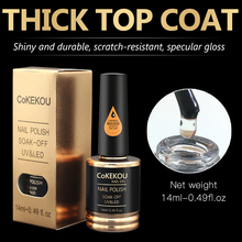 CoKEKOU 0.5Oz Nail Gel Polish Primer Foundation voor Base Coat & Top Coat Bonder Art Nails Gels Dikke dunne tips Gebruik
