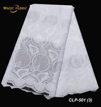 High Quality Swiss Voile Lace In Switzerland Latest African Lace Fabric Top Sale Swiss Cotton Nigerian Lace Fabric CLP-501