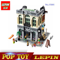 IN STOCK Free Shipping New LEPIN 15001 2413Pcs Brick Bank Model Building Kits Blocks Bricks Toy