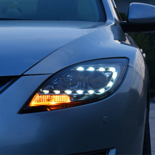Car Headlight For Mazda 6 led spot headlights For Mazda 6 head lamp led DRL front light Bi-Xenon Lens Double Beam HID KIT цена в Москве и Питере