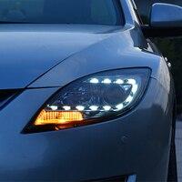 Car Headlight For Mazda 6 led spot headlights For Mazda 6 head lamp led DRL front light Bi Xenon Lens Double Beam HID KIT