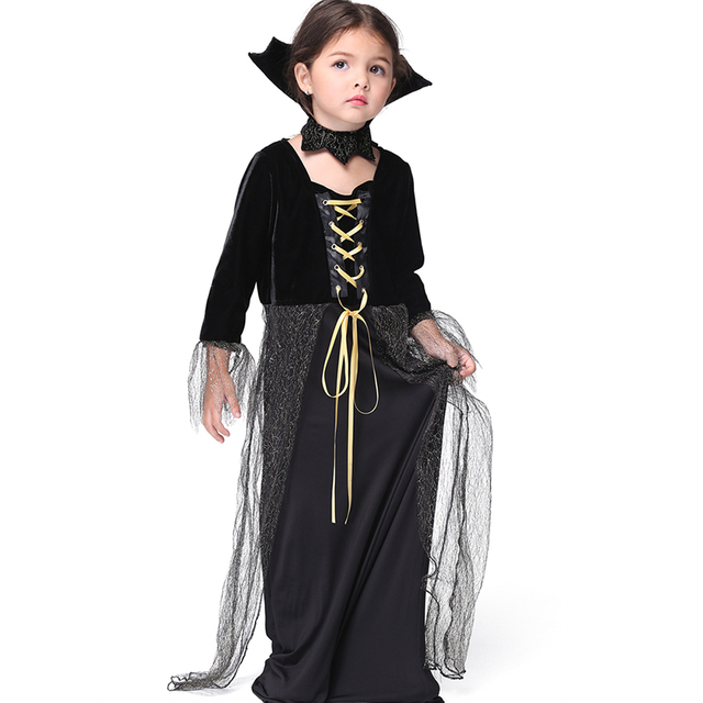 witch halloween costume for kids long dress mesh children fancy show dress cosplay costumes children party - Witch Halloween Costumes For Girls