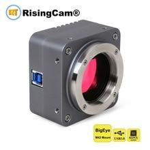 "BigEYE USB3.0 10mp SONY imx294 4/3 ""CMOS מיקרוסקופ דיגיטלי מצלמה עם M42 ו c הר עבור trinocular הביולוגי מיקרוסקופ"