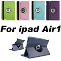 360 Rotation PU Leather case For iPad Air1 Tablet flip cases Cover For Apple  iPad5 case Free shipping