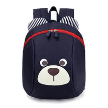 kindergarten backpack Anti-lost kids baby bag cute animal dog panda children backpacks school bag for boys girls mochila escolar(China)