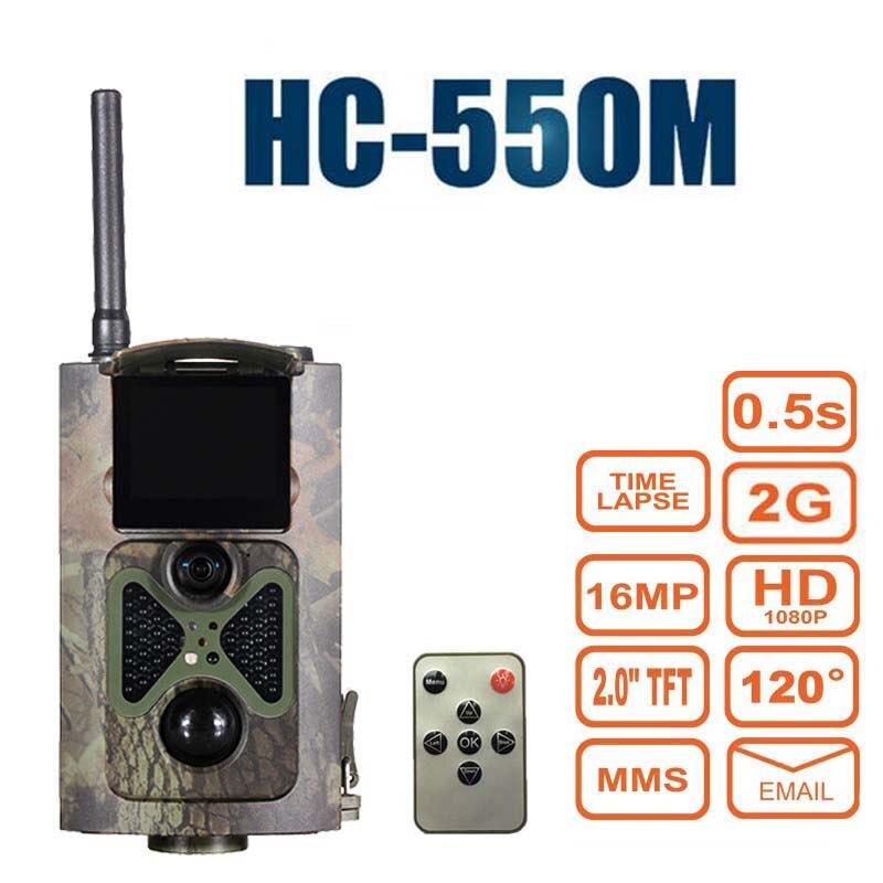 Caméra de sentier de Vision nocturne chasse 16MP 1080 P MMS GPRS Suntek HC550M pièges Photo infrarouge de la faune