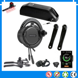 EU US RU No tax BBS02B BBS02 48V 750W Bafang mid drive electric motor kit with New 48V 13Ah 17.5ah down tube battery + charger(China)