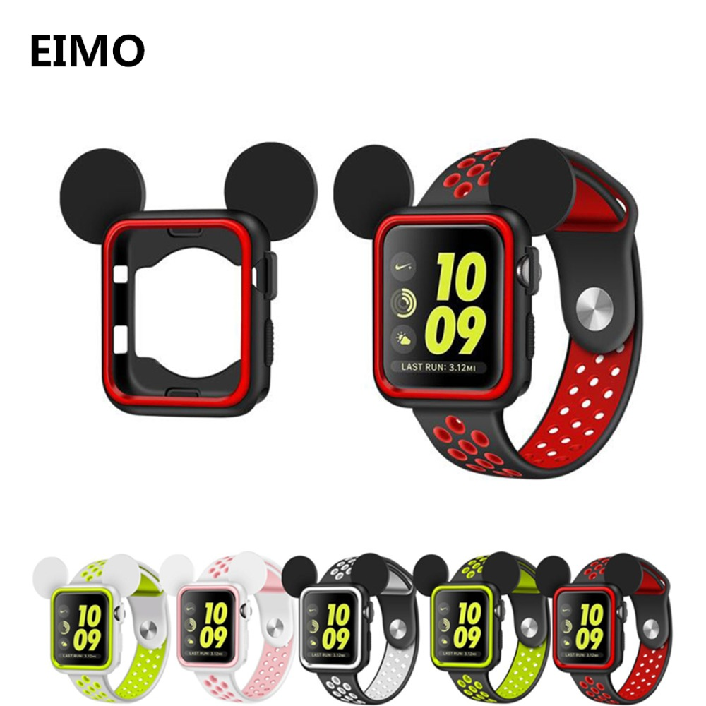 Soft and Slim Watch Case For Apple Watch 42mm 38mm Iwatch 3 2 1 Smartwatch Replacement Silicone