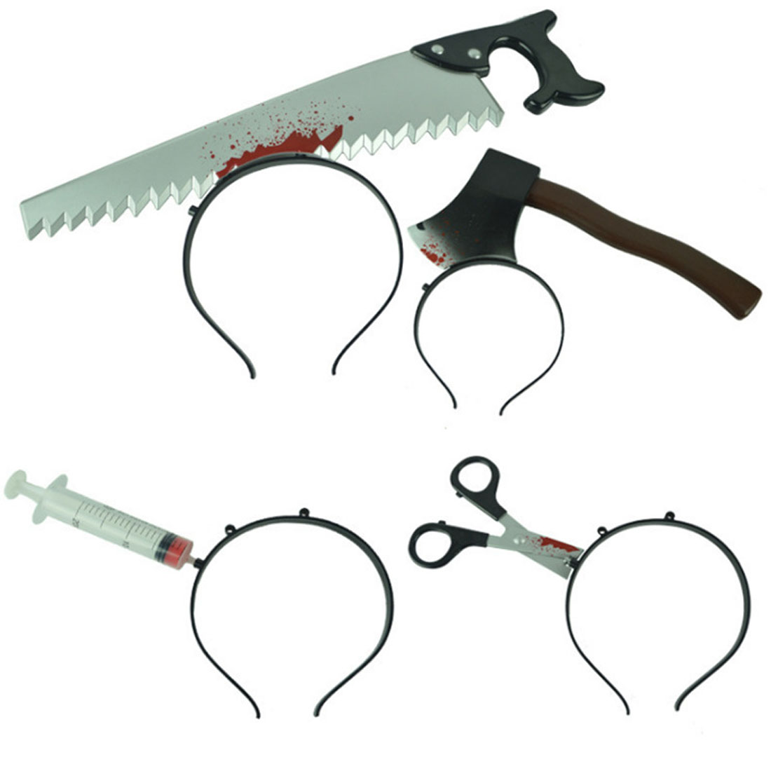 Novelty & Special Use Multi Shapes Funny Scary Toys Halloween Perform Props Axe Saw Nail Knife Headwear Fake Blood Scene Props Hair Accessories Costumes & Accessories