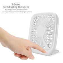 Mini Noiseless Desktop Electric Fan White Portable USB Charging Third Gear Summer cool fan Gift Decoration