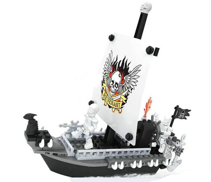 Ausini Model building kits compatible with lego city Pirate Revenge invaders 155 3D blocks Educational toys hobbies for children lepin 02012 city deepwater exploration vessel 60095 building blocks policeman toys children compatible with lego gift kid sets