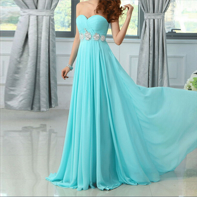 Brand New Elegant Bridesmaid Dresses Special Occasion Dress Chiffon Fashion Sweetheart Bride Gown Ball Prom Party Formal Dress