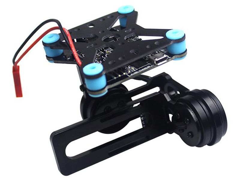 Metal Brushless 2-axis Mini Gimbal W/ 2206/100T Motor Free Debugging DIY CNC GOPRO3/4 PTZ 108G For FPV Aerial Photography SJ