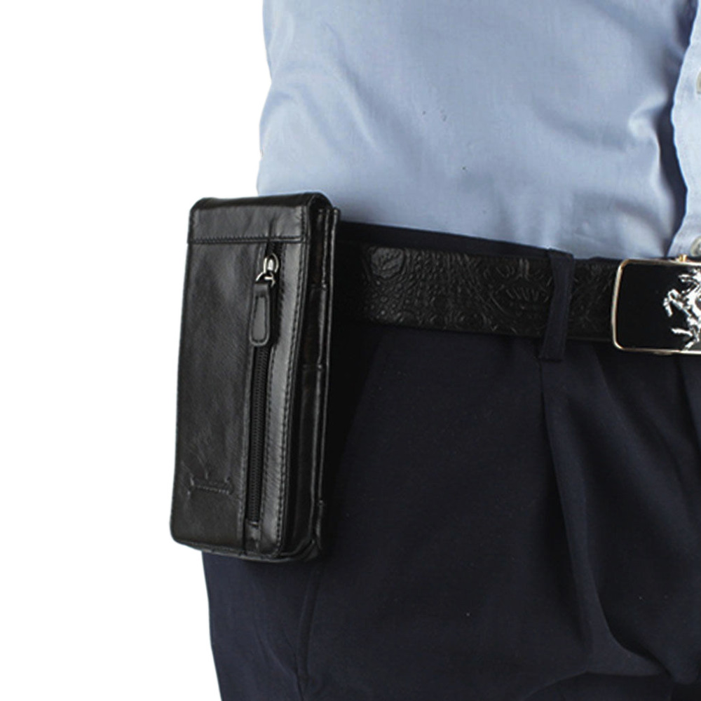 New Men Genuine Leather Mobile Phone Case Pocket Purse Cigarette Hip Belt Bum Fanny Waist Bag Multi-purpose Pack planning research in hospitality