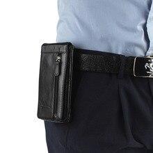 Men Genuine Leather Mobile Phone Case Pocket Purse