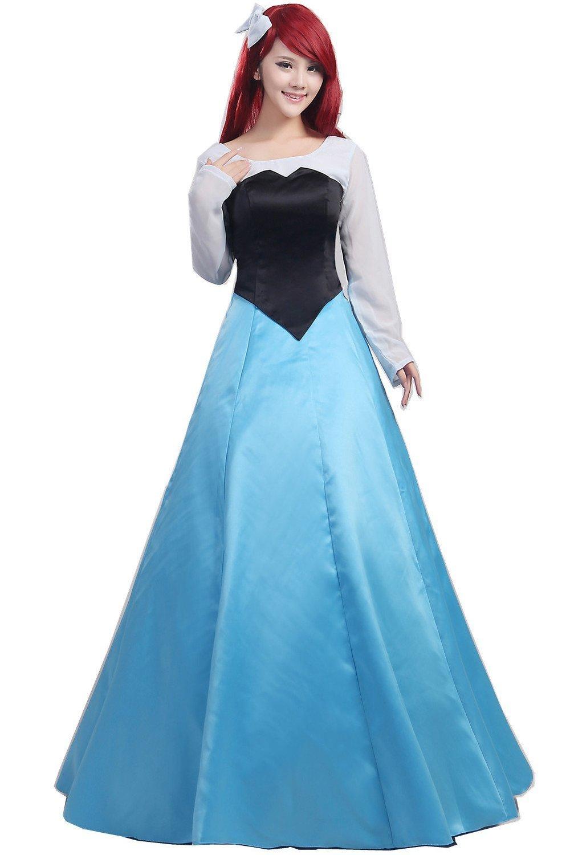 Fantasia Halloween femmes adulte princesse Ariel robe la petite sirène Ariel Costume bleu robe halloween costume