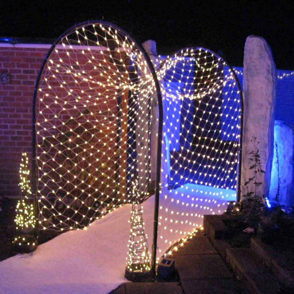 LMID LED Net Mesh Waterproof Fairy String Light Wedding Party Garland Decoration Christmas Light With 8 Function Controller