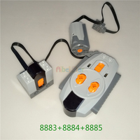 Aibei Star Technic compatible Legoed Series Parts: 8883+8884+8885;8884+8885; RC, Remote control receiver and M motor