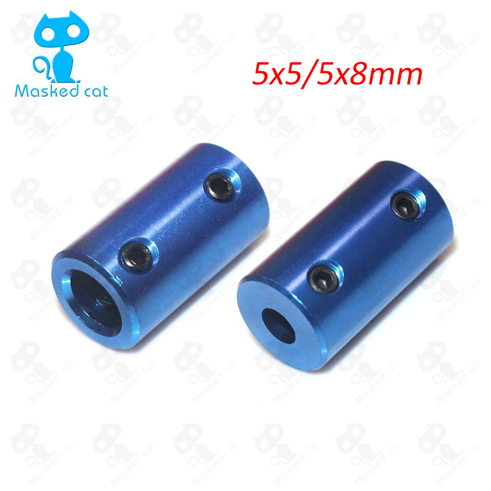 5pcs Shaft Coupler D14L25 Aluminum Coupling Bore 5x5 5x8 8X8mm Blue Flexible coupler Rigid Screw Part For Stepper Motor