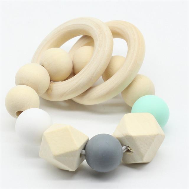 Natural Round Organic Wood Teether