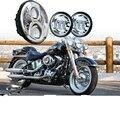 """Nova Motocicleta 7 polegada Redondas H13 LEVOU Faróis H4 7 """"Daymaker LEVOU Farol 4.5"""" passando Luzes Para Harley Road King Police FLHP"""