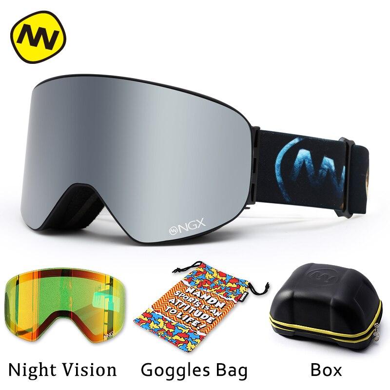 Image 5 - NANDN gogle narciarskie okulary narciarskie podwójne soczewki UV400 Anti fog snowboard dla dorosłych okulary narciarskie kobiety mężczyźni śnieg okulary w Okulary narciarskie od Sport i rozrywka na