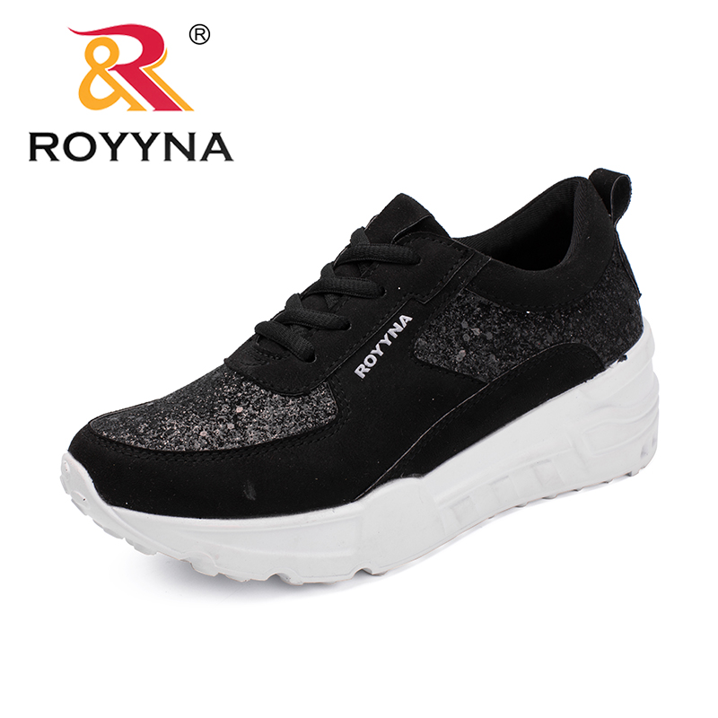 ROYYNA New Arrival Popular Style Women Flats Outdoor Sneakers Shoes Suede Lady Casual Shoes Flat Platform Women Shoes instantarts women flats emoji face smile pattern summer air mesh beach flat shoes for youth girls mujer casual light sneakers