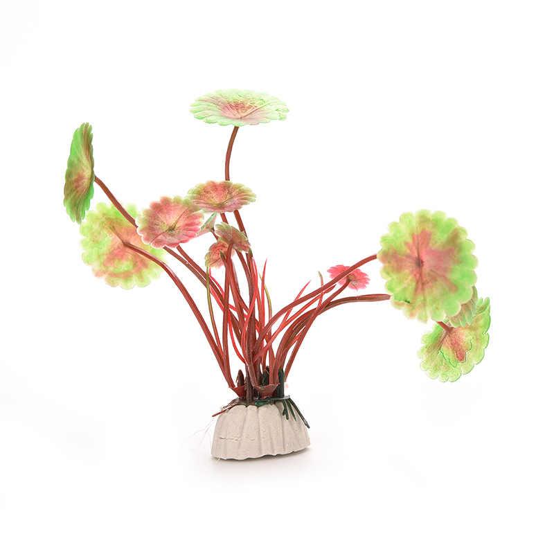 Décorations d'aquarium en plastique | Plante artificielle chaude, décoration d'aquarium, plantes réservoir de poisson, fleur d'herbe, décor décoratif, accessoires aquatiques