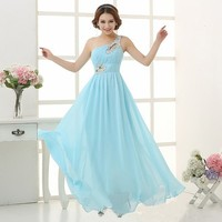 2014 Free Shipping New Arrival Dresses Long Design Fish Tail Formal Prom Evening Dress Costume Size