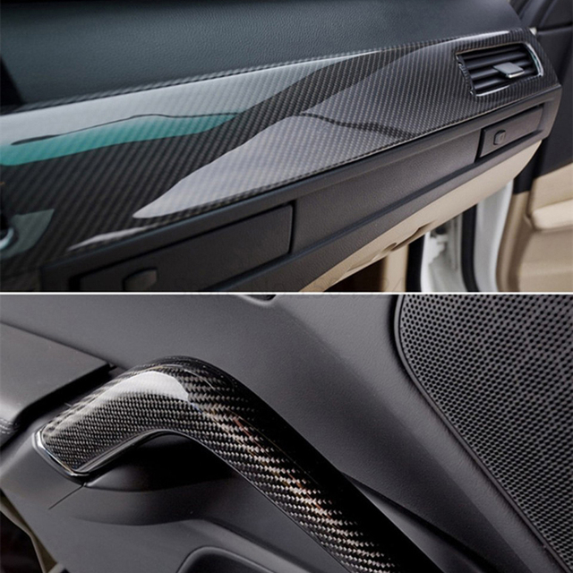100cm*30cm High Glossy 5D Carbon Fiber Wrapping Vinyl Film Motorcycle Tablet Stickers And Decals Auto Accessories Car Styling 2