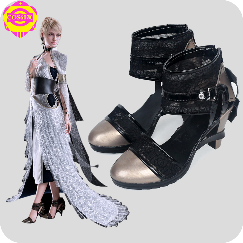 Custom Made Final Fantasy XV FF 15 Lunafreya Nox Fleuret Women Cosplay Boots Shoes Game Party Cosplay Boots image