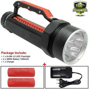 Image 1 - Powerful Led 10000 Lume Flashlight Underwater Hunting Diving Torch 26650 XM L2 Scuba Diver Lamp Flashlight X900 Battery&Charger