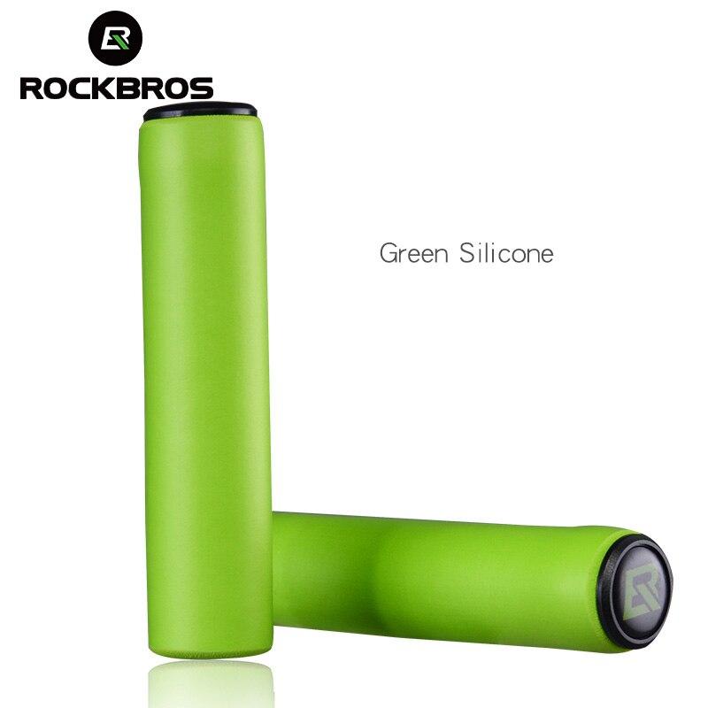 ROCKBROS MTB велик ручки для велосипеда силиконовый руль мягкие сверхлегкие ручки Анти-занос, удар-поглощающие 5 видов цветов части велосипеда