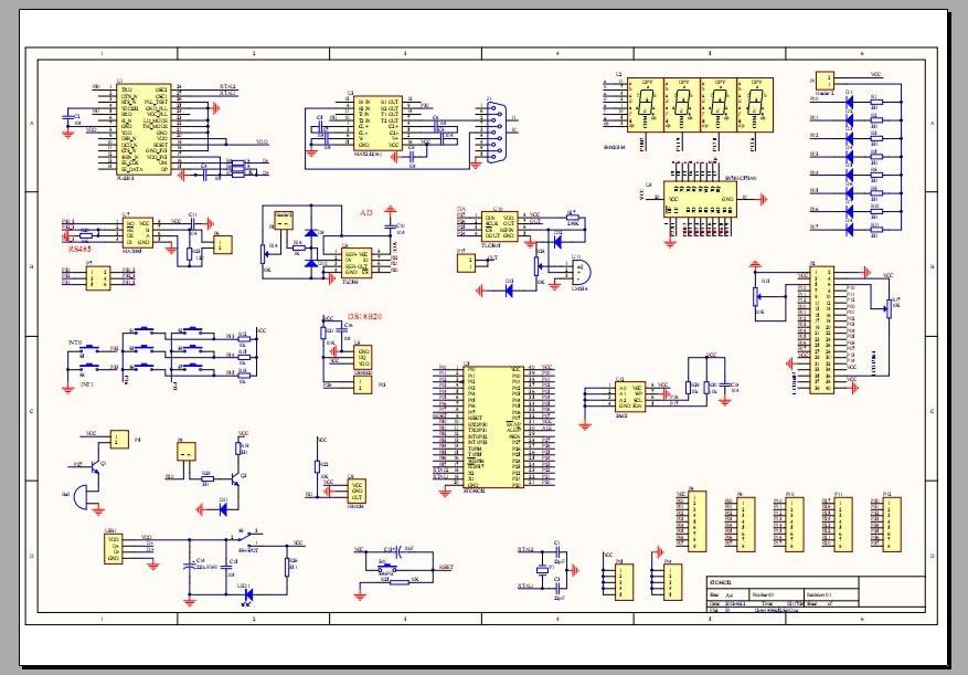 EP1C3T144 chip development board schematics and circuit