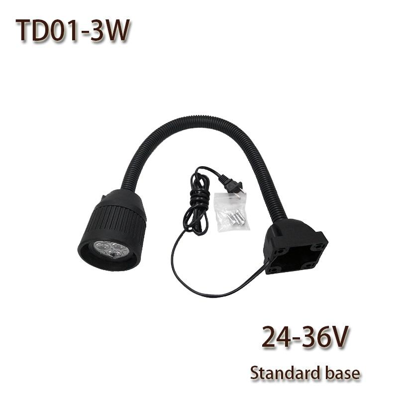HNTD TD01 3 Вт DC 24 В / 36 В LED Soft Rod light Common Base Станок с ЧПУ рабочий свет светодиодные прожекторы Дешево и хорошо Бесплатная доставка