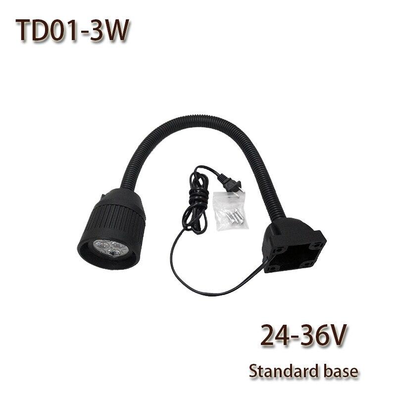 HNTD TD01 3W DC 24V / 36V LED Tăbliță ușoară Bază comună CNC - Iluminat cu LED