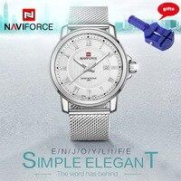 NAVIFORCE Luxury Brand Men Watch Stainless Steel Strap Analog Date Men S Quartz Casual Watches Wristwatch
