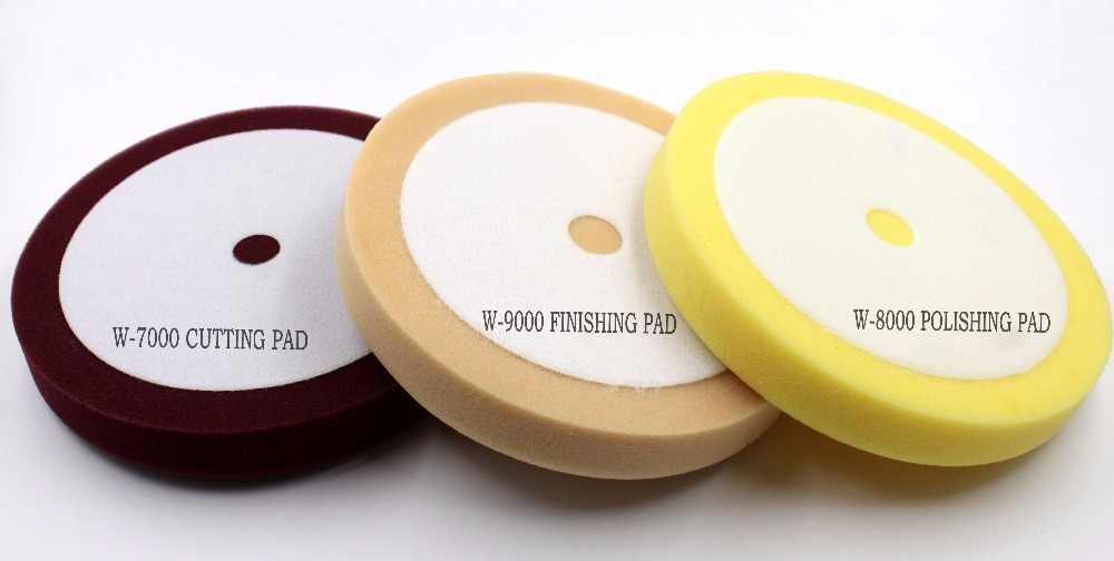 "8"" car soft Buffing Pad &foam cutting&polishing&finish same AMERICAL material as MEGUIAR'S W-7000 W-8000 W-9000(3PCS/LOT)"