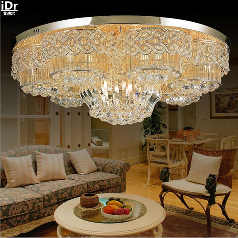 LED Restaurant Lights Crystal Lamp Living Room Bedroom Hotel Project Lighting Gold Ceiling