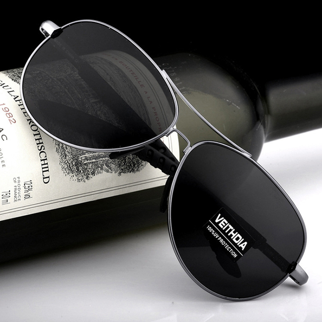 VEITHDIA New Polarized Mens Sunglasses Brand Designer Sunglass Eyewear Accessories Sun Glasses gafas oculos de sol For Men 3088