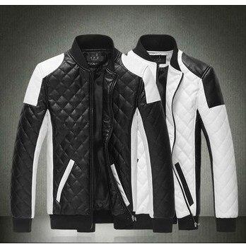 Мужская одежда тонкая мужская кожаная куртка Верхняя одежда Мужская мода pu куртка пальто Высокое качество