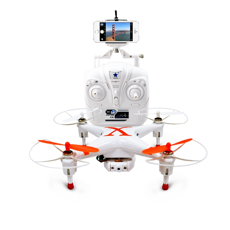 Cheerson Helicopter CX-30W-TX 4CH 6Axis UAV With 0.3mp HD Camera FPV 2.4G 3D Filp WIFI Moblie Phone+Transmitter RC Quadcopter f09166 10 10pcs cx 20 007 receiver board for cheerson cx 20 cx20 rc quadcopter parts