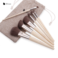 DUcare Makeup Brushes 7Pcs Professional Makeup Brush Set Bamboo Foundation Eyeshadow Brush With Leather Bag Make