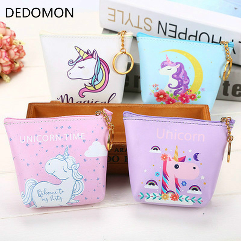 Korean Ladies Cartoon Coin Purse Wallet Girls' Cheapest Zipper Coin Wallet Children Cute Animal Mini Key Card Pouch Bag For Kids 2017creative cute cartoon coin purse key chain for girls pu leather icecream cake popcorn kids zipper change wallet card holder