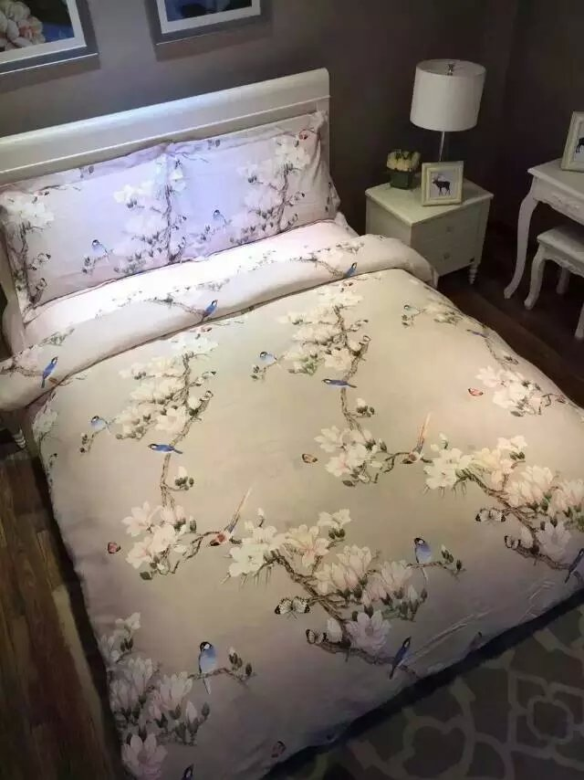 Bird Print Bedding Set Sheets Duvet Cover Bed Linen Floral Butterfly King  Size Queen Full Double Quilt Bedspreads Cotton Thick In Bedding Sets From  Home ...