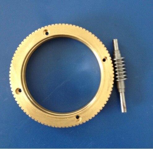 1Set Outer Diameter 72mm 0 8M 90T Worm Gear Rod Speed Ratio 1 90