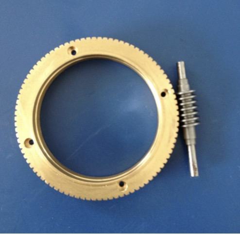 1Set  Outer Diameter:72mm  0.8M-90T Worm Gear Rod Speed Ratio 1:90 1Set  Outer Diameter:72mm  0.8M-90T Worm Gear Rod Speed Ratio 1:90
