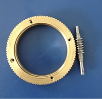 1Set Outer Diameter:72mm 0.8M 90T Worm Gear Rod Speed Ratio 1:90