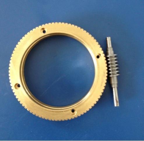 Outer diameter:72mm 0.8M-90T Worm gear rod Speed ratio 1:90 1set rod l 153mm outer diameter 85mm cnc